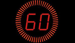 Chronomètre rouge sur fond noir